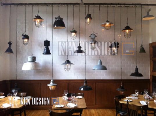 """chon den trang tri 47 537x400 - Nghệ thuật """"lựa"""" đèn khi trang trí nhà hàng"""