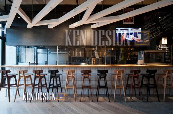 thiet ke nha hang bia 31 605x400 - Thiết kế nhà hàng bia tươi sang trọng đẳng cấp