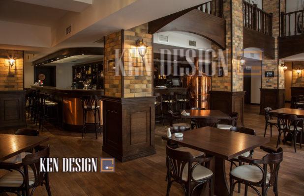thiet ke nha hang bia 32 618x400 - Thiết kế nhà hàng bia tươi sang trọng đẳng cấp