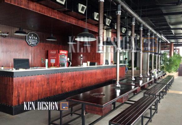 thiet ke nha hang nuong khong khoi 15 581x400 - Thiết kế nhà hàng nướng không khói