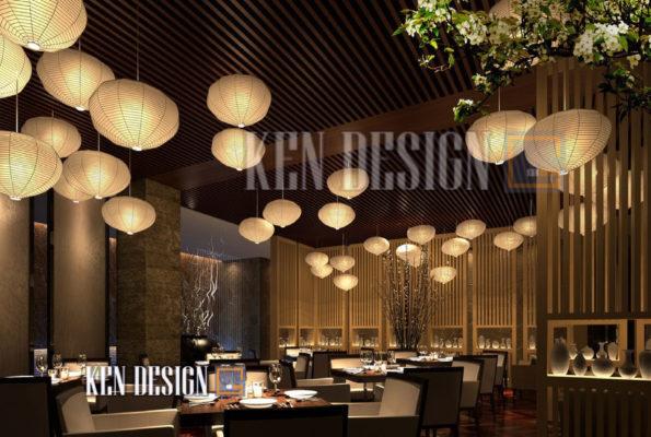 thiet ke nha hang trung hoa 03 595x400 - Thiết kế nhà hàng Trung Hoa – nét đẹp đậm chất phương Đông