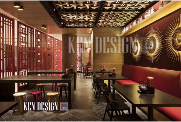 thiet ke nha hang trung hoa 05 595x400 - Thiết kế nhà hàng Trung Hoa – nét đẹp đậm chất phương Đông