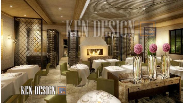 """thiet ke noi that nha hang cao cap 12 710x400 - Thiết kế nội thất nhà hàng cao cấp """"siêu sang"""""""