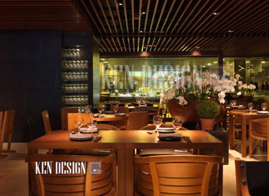 trang tri nha hang 09 549x400 - Những sai lầm khi trang trí nhà hàng sang trọng hiện đại