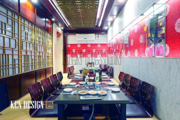 Thiết kế nhà hàng King BBQ hiện đại sang trọng