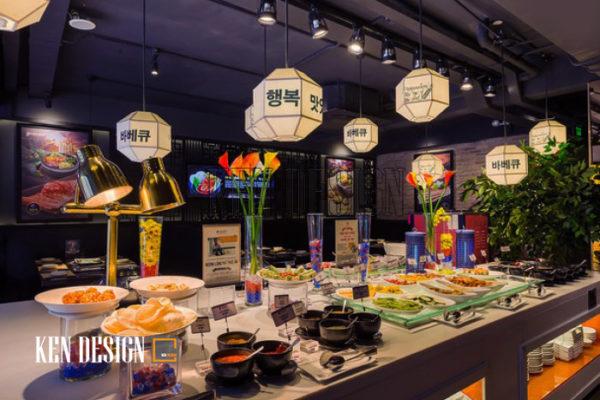 Thiết kế nhà hàng nướng King BBQ đậm chất Hàn Quốc