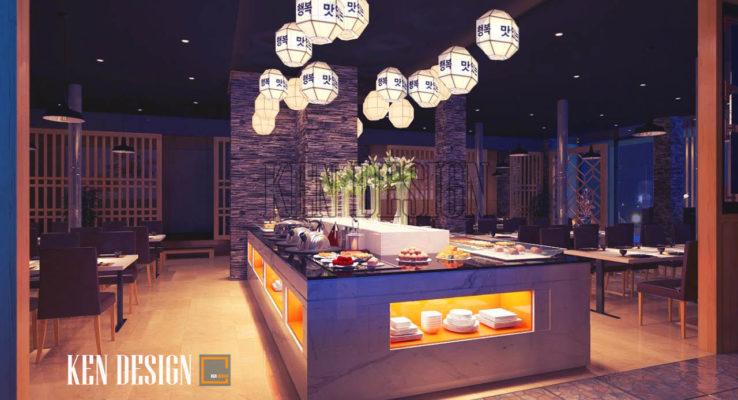 Nội thất nhà hàng nướng King BBQ sang trọng, hiện đại