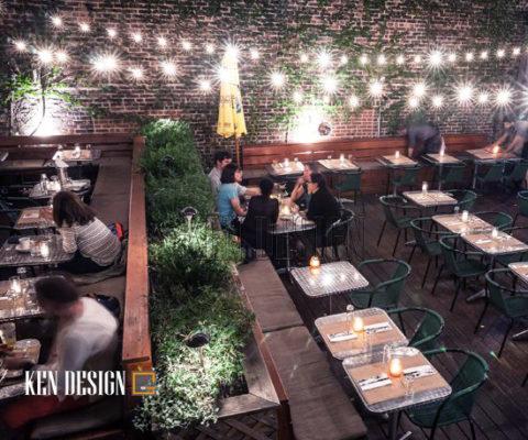Trang trí nhà hàng với ánh đèn