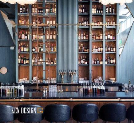 Thiết kế quầy Bar nhà hàng sang trọng