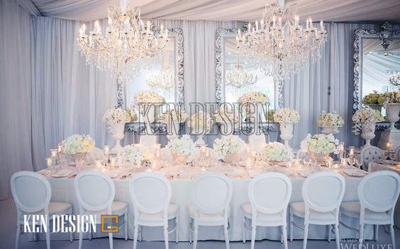 Thiết kế nhà hàng tiệc cưới đẹp với nội thất sang trọng