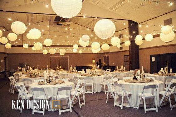 Trang trí nội thất nhà hàng tiệc cưới