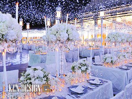 Thiết kế nhà hàng tiệc cưới kiểu Âu