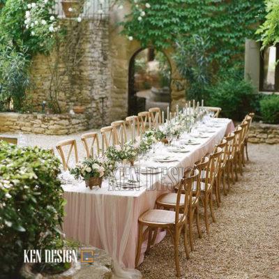 Ý tưởng trang trí tiệc cưới ngoài trời độc đáo