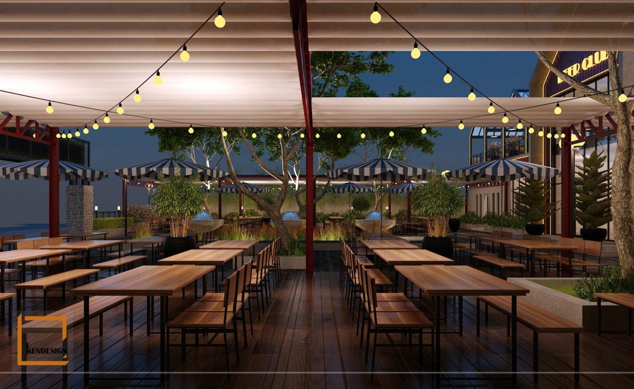 Thiết kế nhà hàng bia tươi
