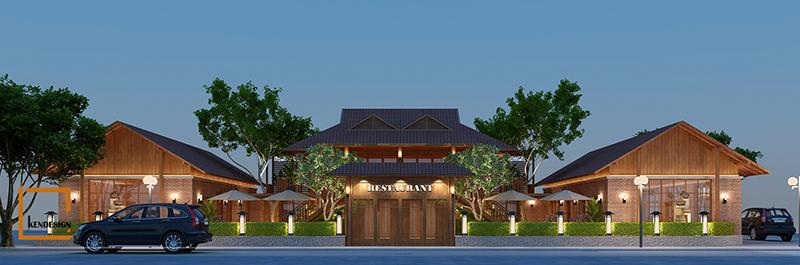 Thiết kế ngoại thất nhà hàng buffet Sóc Sơn