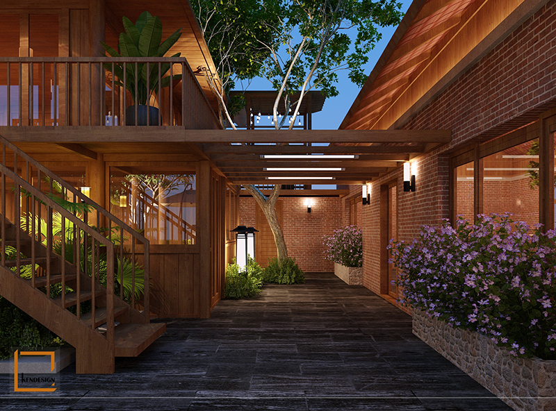 Thiết kế nhà hàng phong cách đẹp 8 - Thiết kế ngoại thất nhà hàng buffet Sóc Sơn
