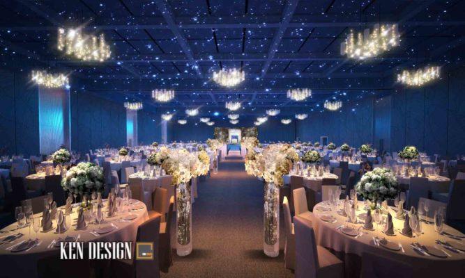 Thiết kế sảnh nhà hàng tổ chức sự kiện