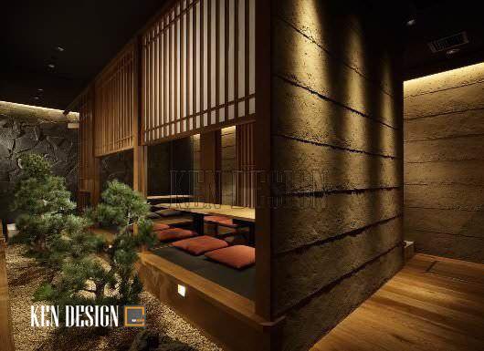 Thiết kế nhà hàng Nhật Bản sang trọng