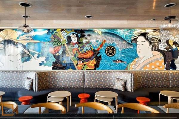 nha hang nhat ban 1 - Vai trò của tranh trang trí trong thiết kế nhà hàng Nhật Bản