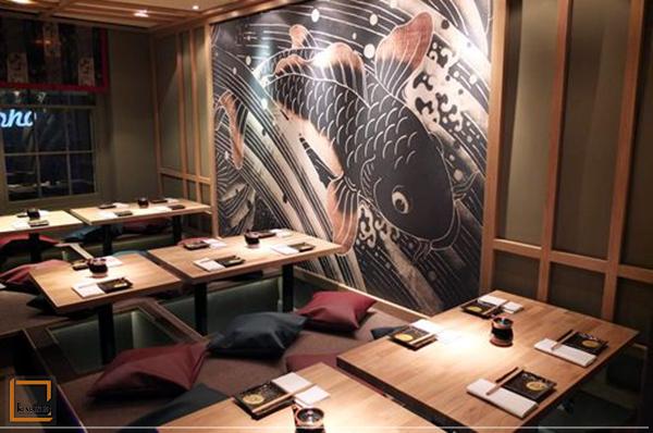 nha hang nhat ban 4 - Vai trò của tranh trang trí trong thiết kế nhà hàng Nhật Bản