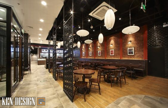 nha hang trung hoa 5 - Thiết kế nhà hàng Trung Hoa theo phong cách hiện đại