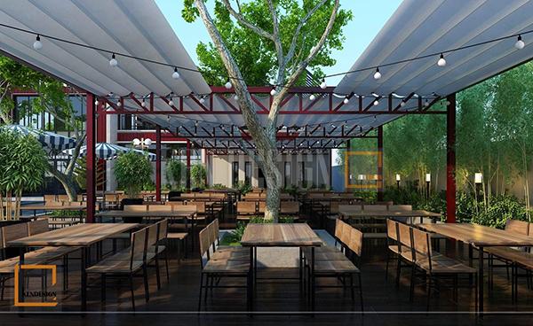thiet ke ngoai that nha hang bia ngon an tuong 3 - Thiết kế ngoại thất nhà hàng Beer Ngon ấn tượng