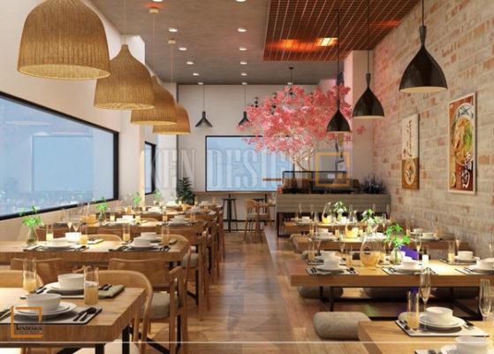 thiet ke nha hang my cay2 559x400 - Thiết kế nâng cấp chuỗi nhà hàng mỳ cay GoChu cơ sở Tân Quý