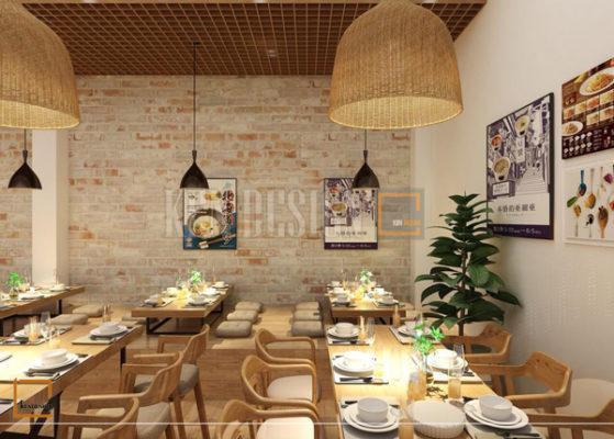 thiet ke nha hang my cay3 559x400 - Thiết kế nâng cấp chuỗi nhà hàng mỳ cay GoChu cơ sở Tân Quý