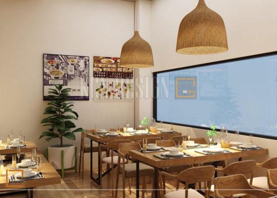 thiet ke nha hang my cay4 559x400 - Thiết kế nâng cấp chuỗi nhà hàng mỳ cay GoChu cơ sở Tân Quý