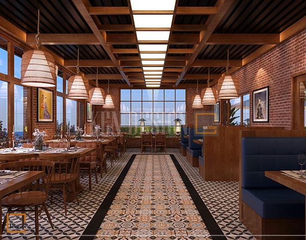 thiet ke noi that nha hang buffet soc son 1 - Thiết kế nội thất nhà hàng Buffet Sóc Sơn