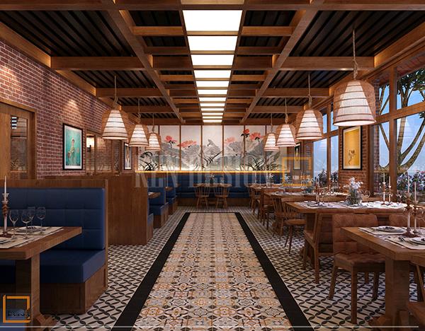 thiet ke noi that - Thiết kế nội thất nhà hàng Buffet Sóc Sơn