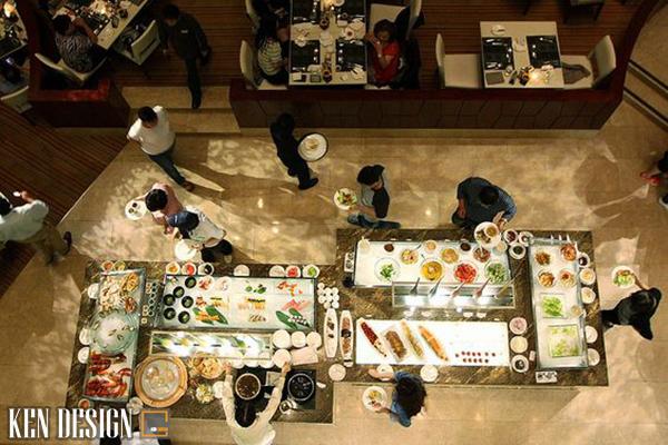 u diem khi thiet ke nha hang buffet 1 - Ưu điểm khi thiết kế nhà hàng Buffet so với các nhà hàng khác