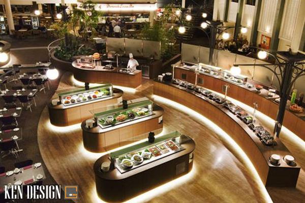 u diem khi thiet ke nha hang buffet 5 - Ưu điểm khi thiết kế nhà hàng Buffet so với các nhà hàng khác
