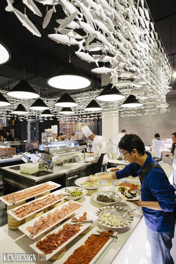 phan chia khong gian trong thiet ke nha hang hai san 3 - Phân chia không gian trong thiết kế nhà hàng hải sản như thế nào là hợp lý?