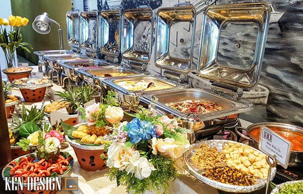 săp xep thiet bi nha hang buffet khoa hoc 1 - Sắp xếp thiết bị nhà hàng buffet như thế nào là hợp lý
