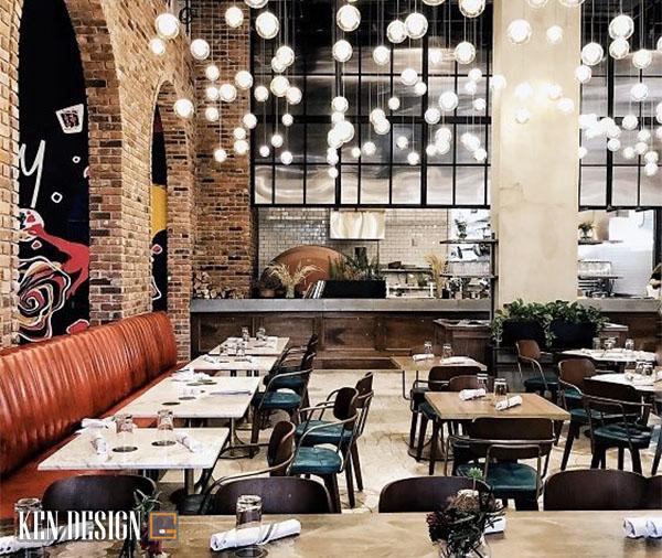 thi cong nha hang hien dai don gian 1 - Thi công nhà hàng hiện đại đơn giản