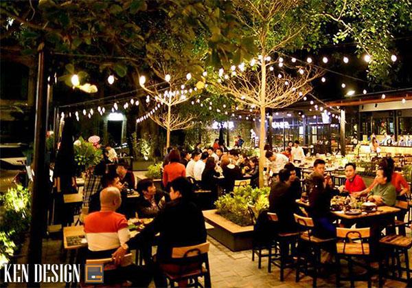 thi cong nha hang lau nuong san vuon 2 - Thi công nhà hàng lẩu nướng sân vườn thu hút