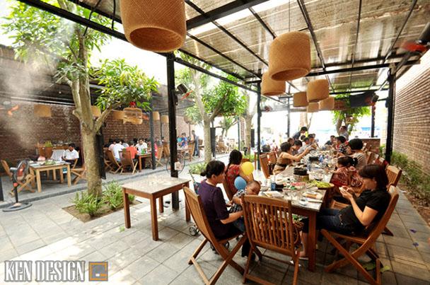 thi cong nha hang lau nuong san vuon 3 - Thi công nhà hàng lẩu nướng sân vườn thu hút
