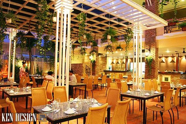 thi cong nha hang lau nuong san vuon 4 - Thi công nhà hàng lẩu nướng sân vườn thu hút
