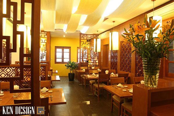 thiet ke nha hang chay su dung chatlieu go 4 600x400 - Thiết kế nhà hàng chay sử dụng chất liệu gỗ
