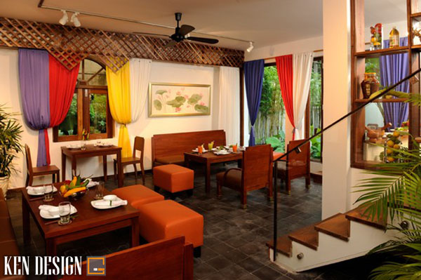 thiet ke nha hang chay voi thiet ke an tuong 1 - Thiết kế nhà hàng ăn chay với đồ trang trí ấn tượng