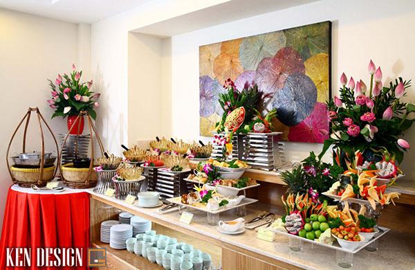 thiet ke nha hang chay voi thiet ke an tuong 2 - Thiết kế nhà hàng ăn chay với đồ trang trí ấn tượng