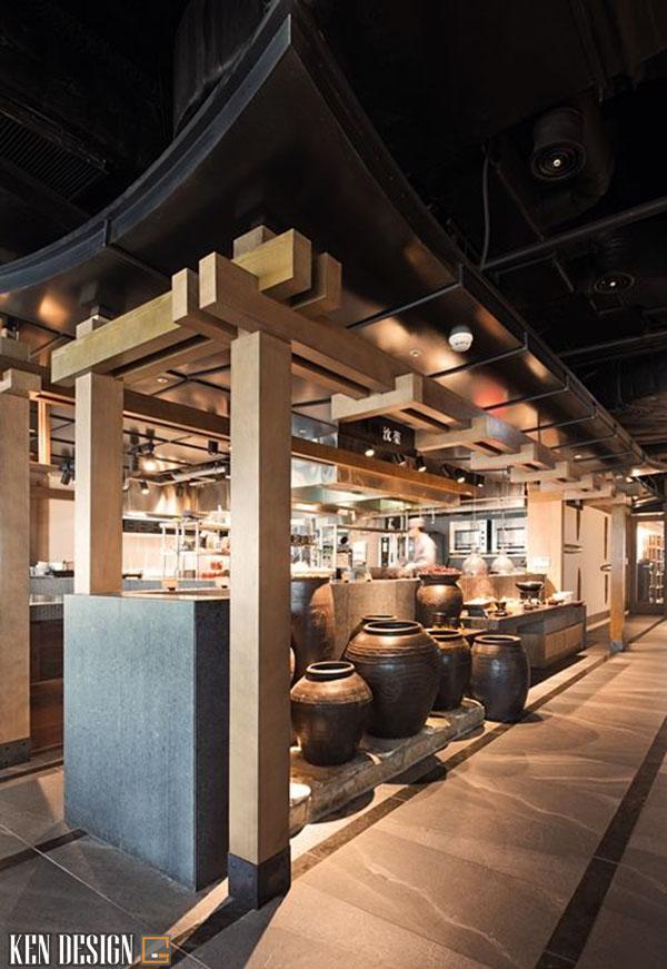 thiet ke nha hang han quoc 1 - Thiết kế nhà hàng Hàn Quốc với trang trí ấn tượng