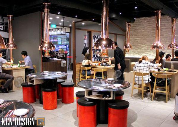 thiet ke nha hang han quoc 3 - Thiết kế nhà hàng Hàn Quốc với trang trí ấn tượng