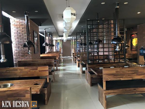 thiet ke nha hang lau nuong toi uu 3 - Cách thiết kế nhà hàng lẩu nướng tối ưu