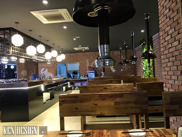 thiet ke nha hang lau nuong toi uu 4 - Cách thiết kế nhà hàng lẩu nướng tối ưu