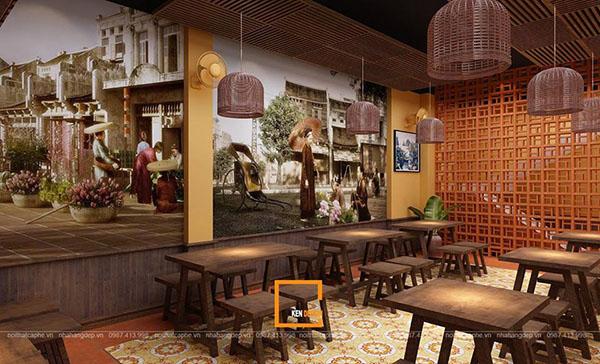 thiet ke nha hang pho suong 1 - Ngắm Hà Thành xưa qua thiết kế nhà hàng phở Sướng