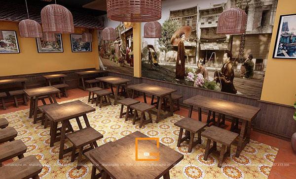 thiet ke nha hang pho suong 10 - Ngắm Hà Thành xưa qua thiết kế nhà hàng phở Sướng
