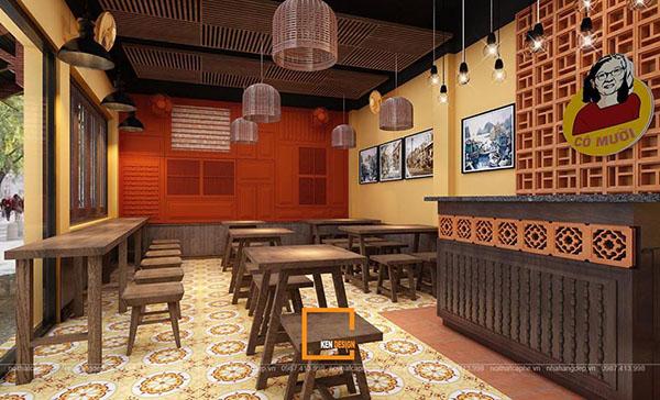 thiet ke nha hang pho suong 4 - Ngắm Hà Thành xưa qua thiết kế nhà hàng phở Sướng