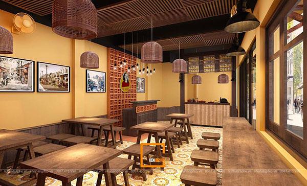 thiet ke nha hang pho suong 6 - Ngắm Hà Thành xưa qua thiết kế nhà hàng phở Sướng